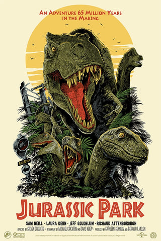 Jurassic Park Screenprinted Poster