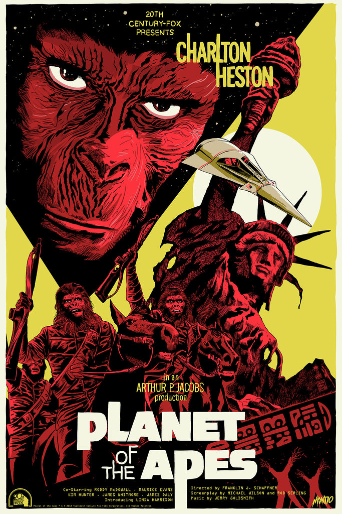 Planet of the Apes Screenprinted Poster
