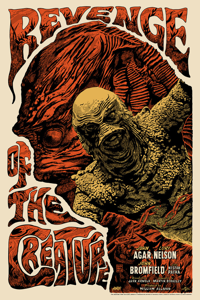 Revenge of the Creature (Variant) Screenprinted Poster