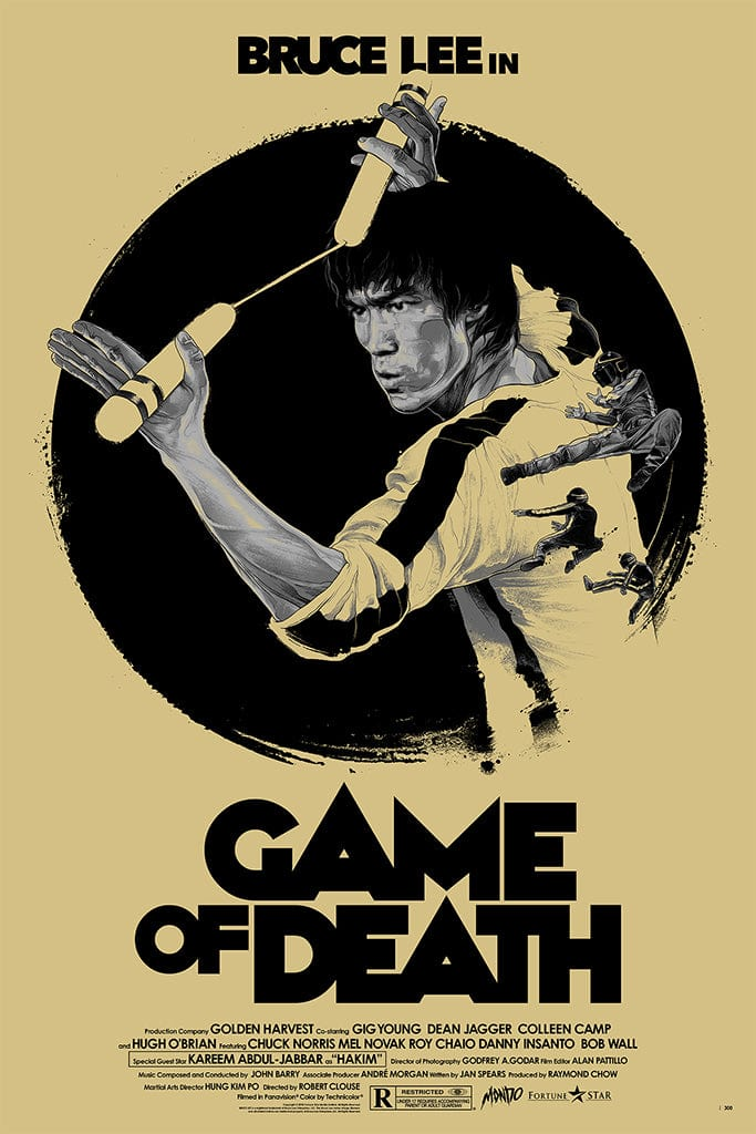 Game of Death Screenprinted Poster
