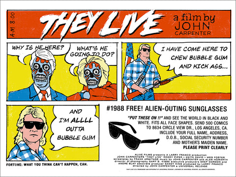 They Live Screenprinted Poster