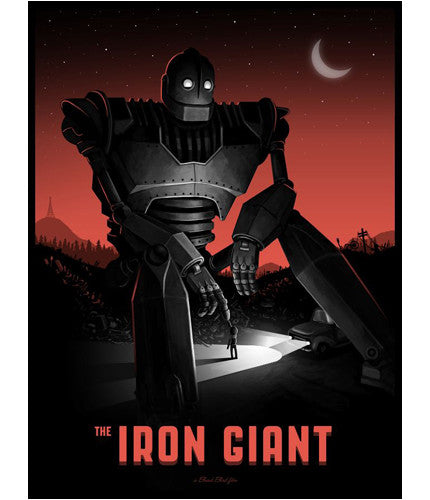 The Iron Giant   Variant Mike Mitchell poster