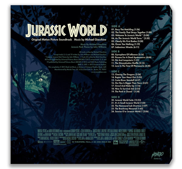 Jurassic World Original Motion Picture Soundtrack 2xlp