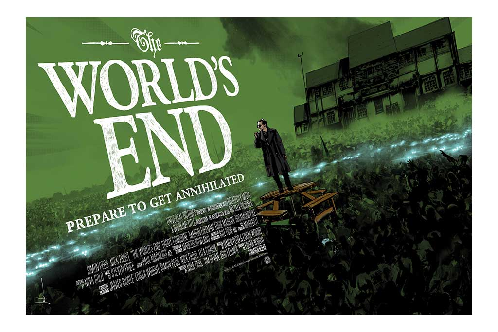The World's End Screenprinted Poster