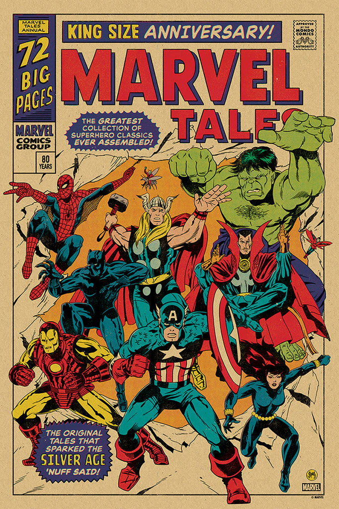 Silver Age of Marvel Comics Screenprinted Poster