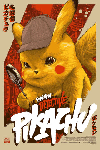 Detective Pikachu Screenprinted Poster