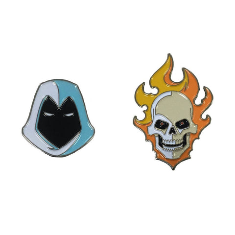 Marvel Knights: Ghost Rider & Moon Knight Enamel Pin Set (Pre-Order)