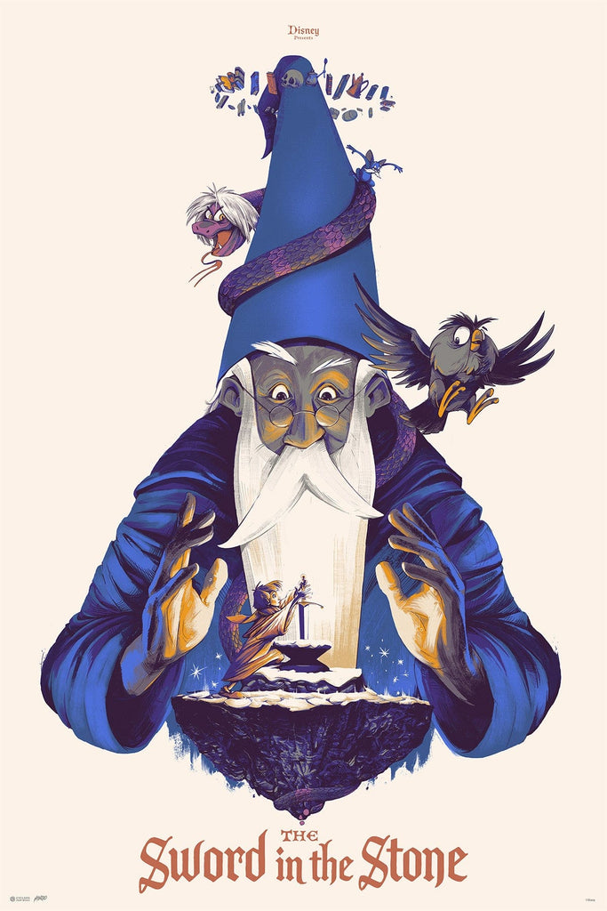 Mondo X Cyclops Print Works Print #22: Sword In The Stone