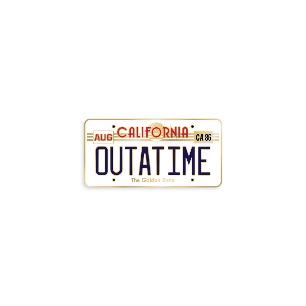 OUTATIME License Plate Enamel Pin