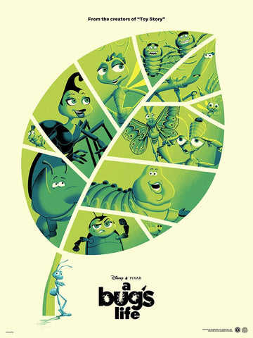 A Bug's Life Screenprinted Poster