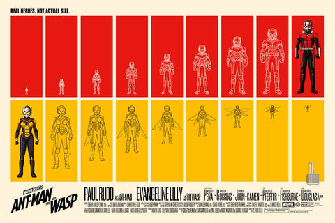 Ant-Man and the Wasp (Horizontal) Screenprinted Poster