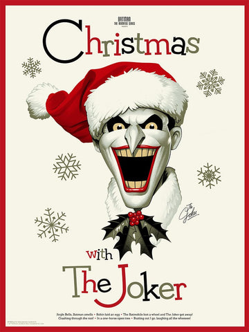 Christmas With The Joker Screenprinted Poster