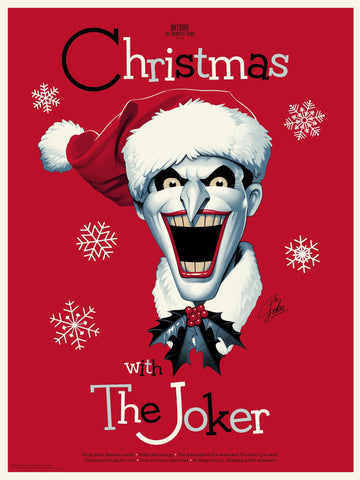 Christmas With The Joker (Variant) Screenprinted Poster