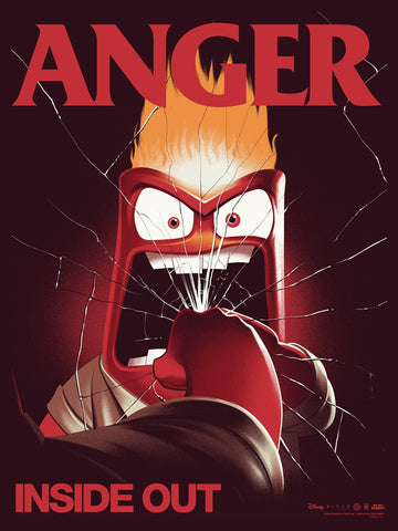 Inside Out: Anger Screenprinted Poster