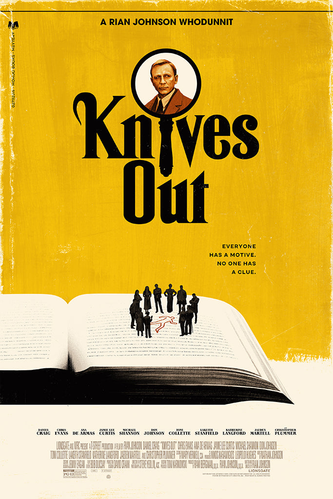 Knives Out Screenprinted Poster
