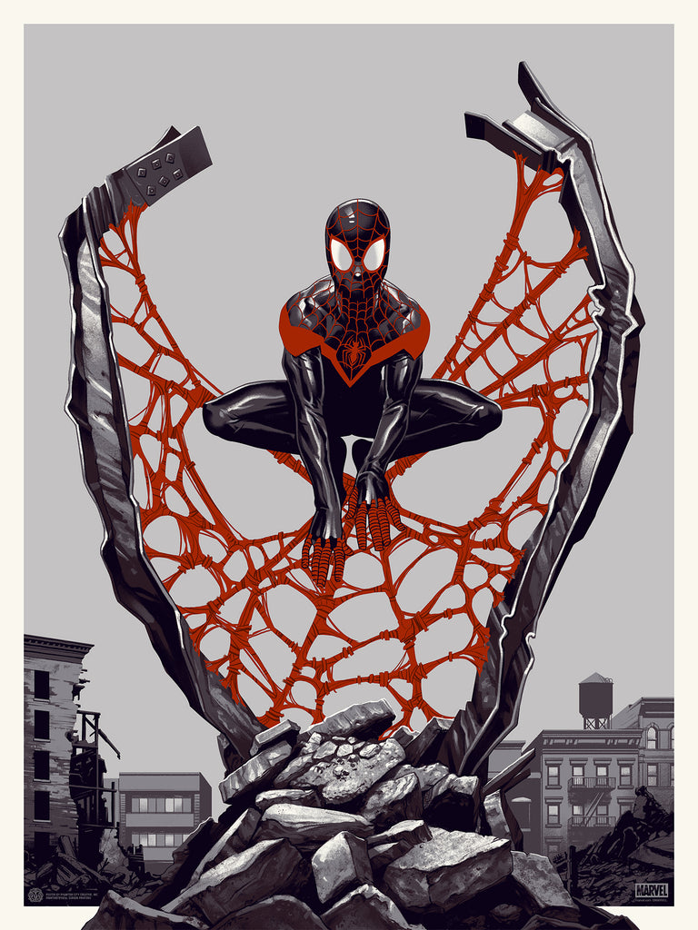 Spider-Man: Miles Morales Screenprinted Poster