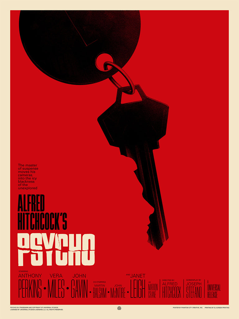 Psycho Screenprinted Poster