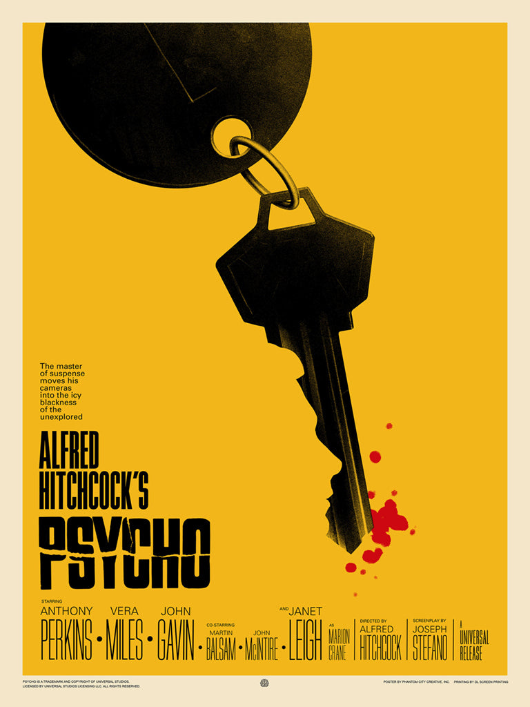 Psycho (Variant) Screenprinted Poster