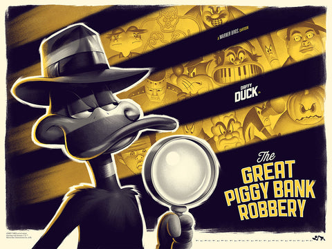 The Great Piggy Bank Robbery - Screenprinted Poster