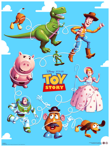 Toy Story Screenprinted Poster