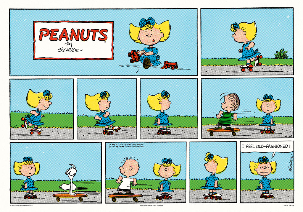 Peanuts Skateboard Screenprinted Poster