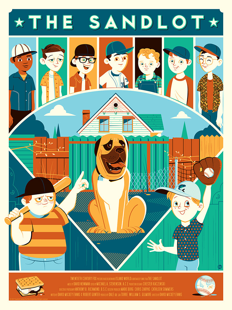 The Sandlot Screenprinted Poster