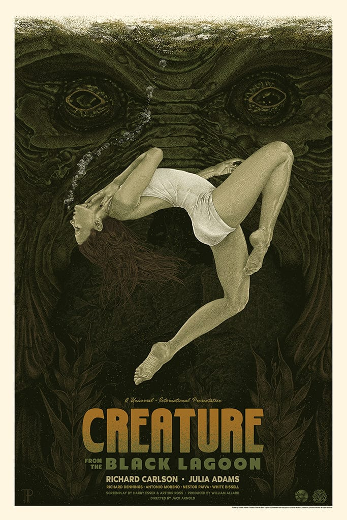 Creature from the Black Lagoon Screenprinted Poster