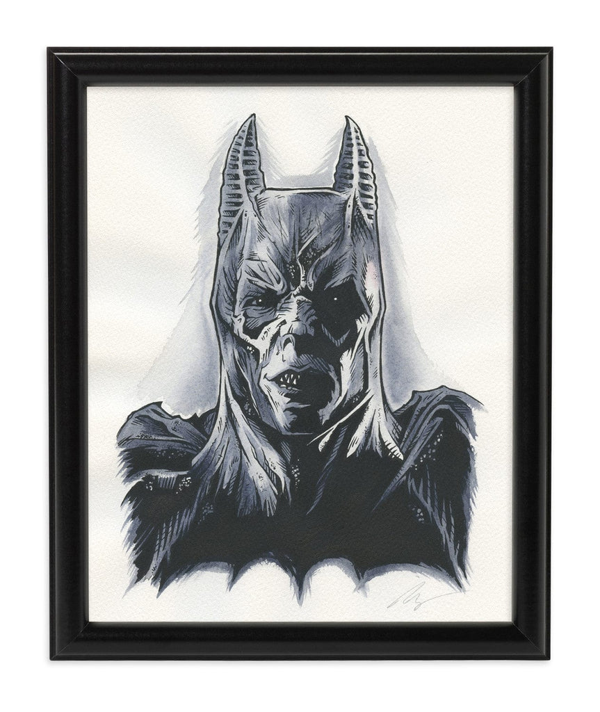 Demon Batman (Watercolor)
