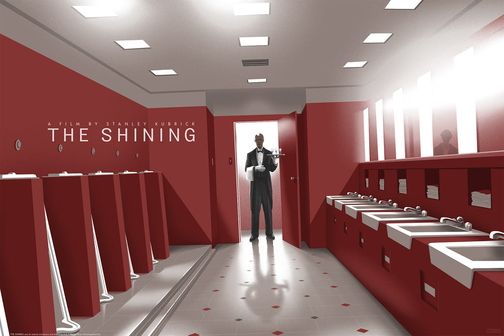 The Shining (The Red Bathroom) Screenprinted Poster
