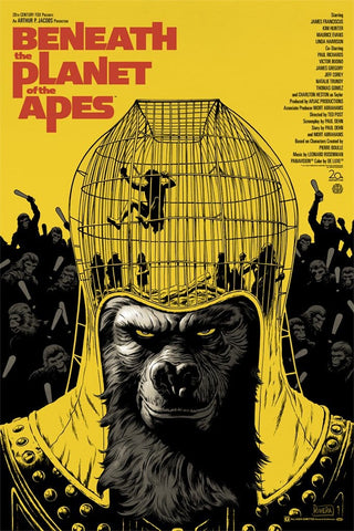 Beneath the Planet of the Apes Screenprinted Poster