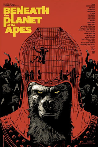 Beneath the Planet of the Apes (Variant) Screenprinted Poster