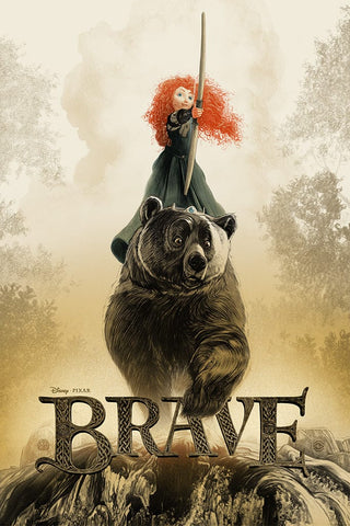 Brave Screenprinted Poster