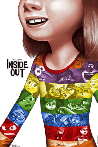 Inside Out Screenprinted Poster