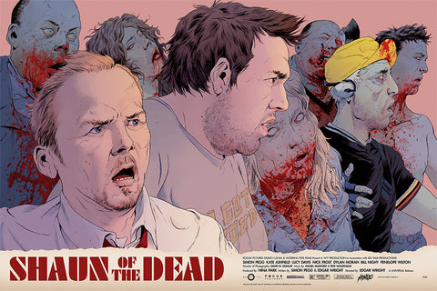 Shaun of the Dead Screenprinted Poster