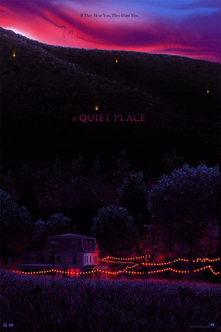 A Quiet Place Screenprinted Poster