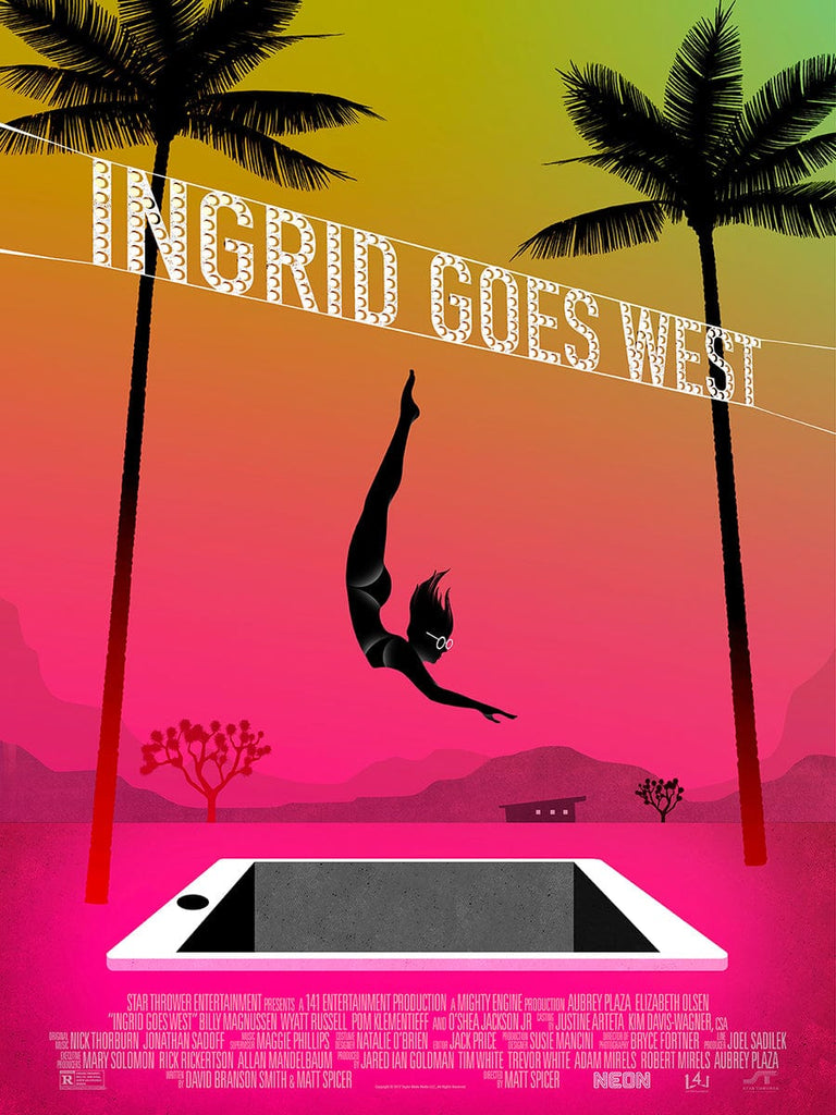 Ingrid Goes West - Screen-Printed Poster
