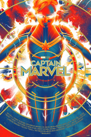 Captain Marvel TIMED EDITION Screenprinted Poster