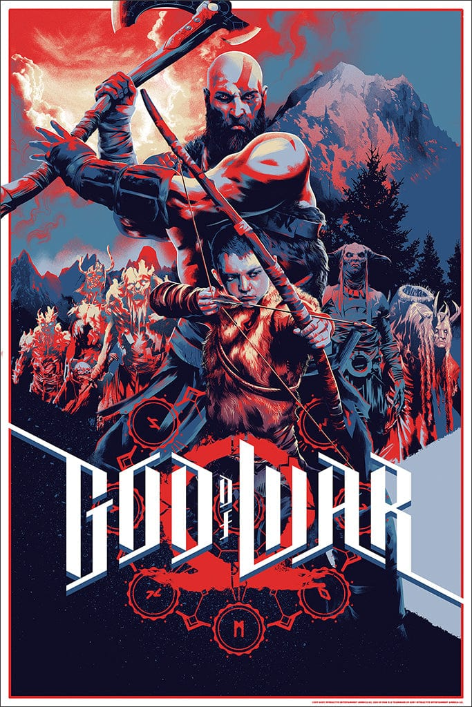 God of War Screenprinted Poster