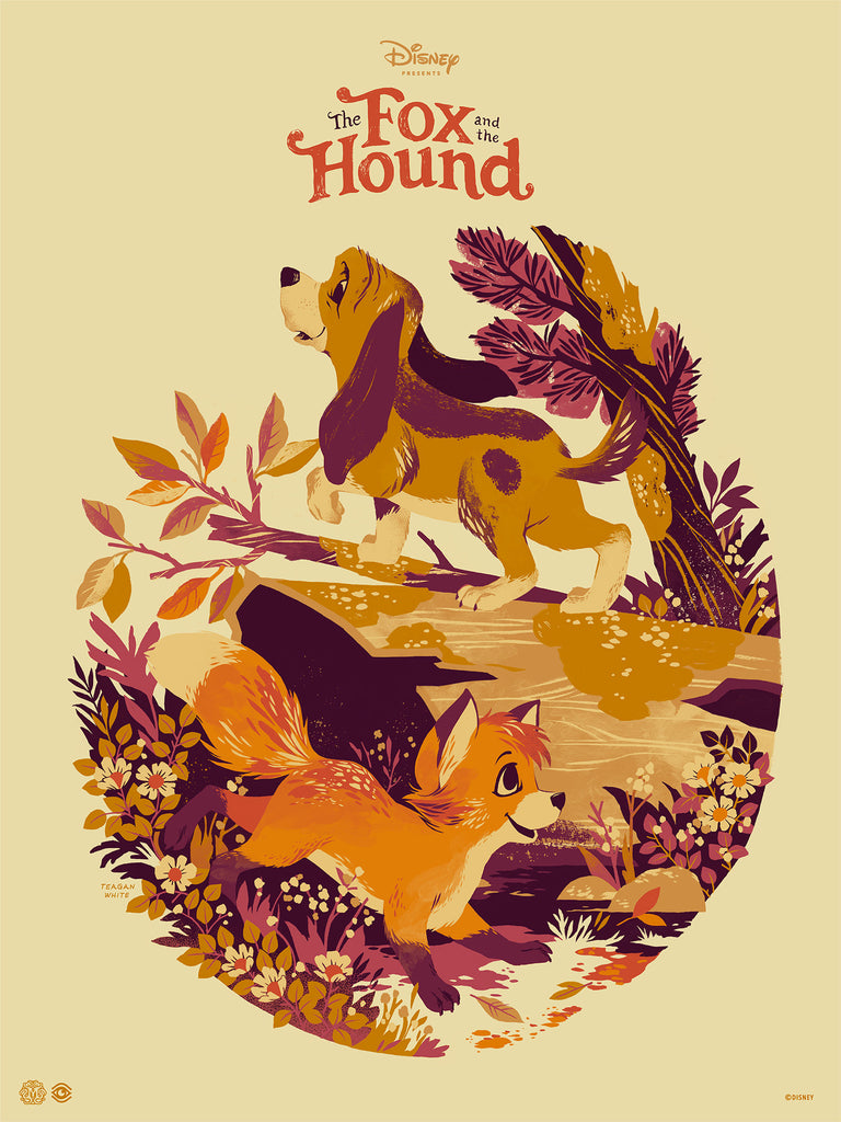 Mondo X Cyclops Print Works Print #10: The Fox and The Hound (Variant)
