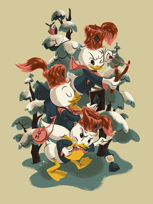 DuckTales   Nephews Anne Benjamin poster