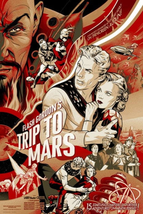 Flash Gordon 1938 Serial   Variant Martin Ansin poster