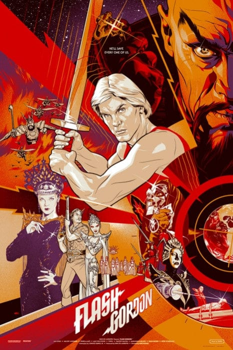 Flash Gordon 1980 Film Martin Ansin poster