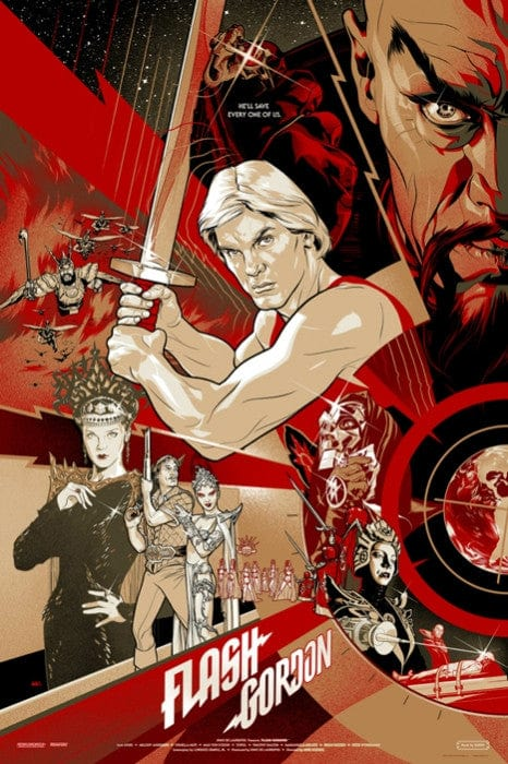 Flash Gordon 1980 Film Variant Martin Ansin poster
