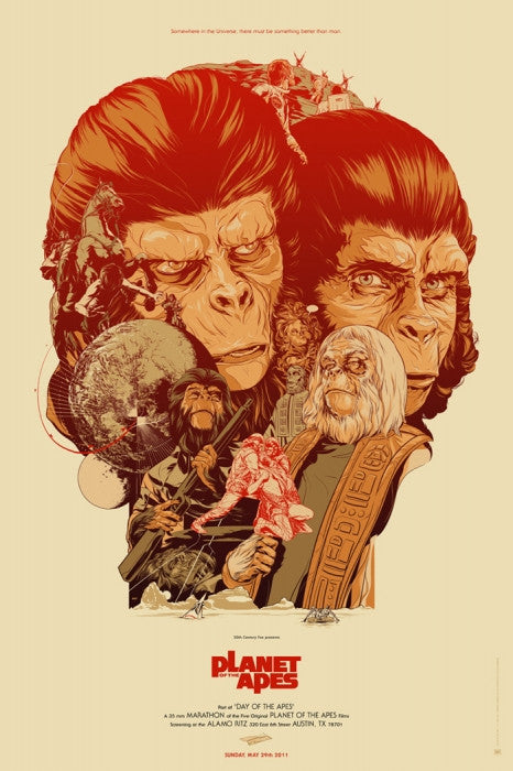 Planet of the Apes Martin Ansin poster
