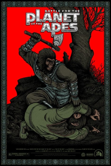 Battle for the Planet of the Apes Florian Bertmer poster