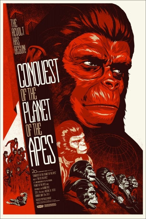 Conquest of the Planet of the Apes Phantom City Creative poster