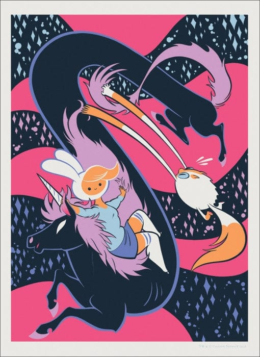 Adventure Time   Fionna & Cake Tiny Kitten Teeth poster
