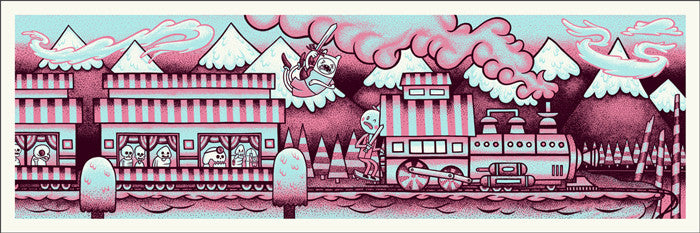 Mystery Train Pink Colorway John Vogl poster