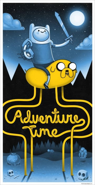 Adventure Time   Variant Mike Mitchell poster