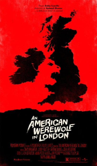 An American Werewolf in London Olly Moss poster